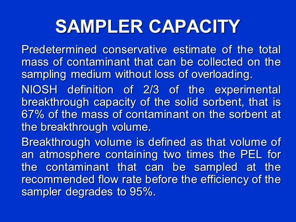 SAMPLER CAPACITY