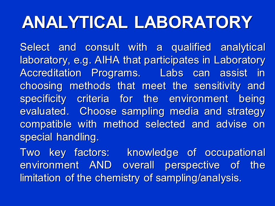ANALYTICAL LABORATORY