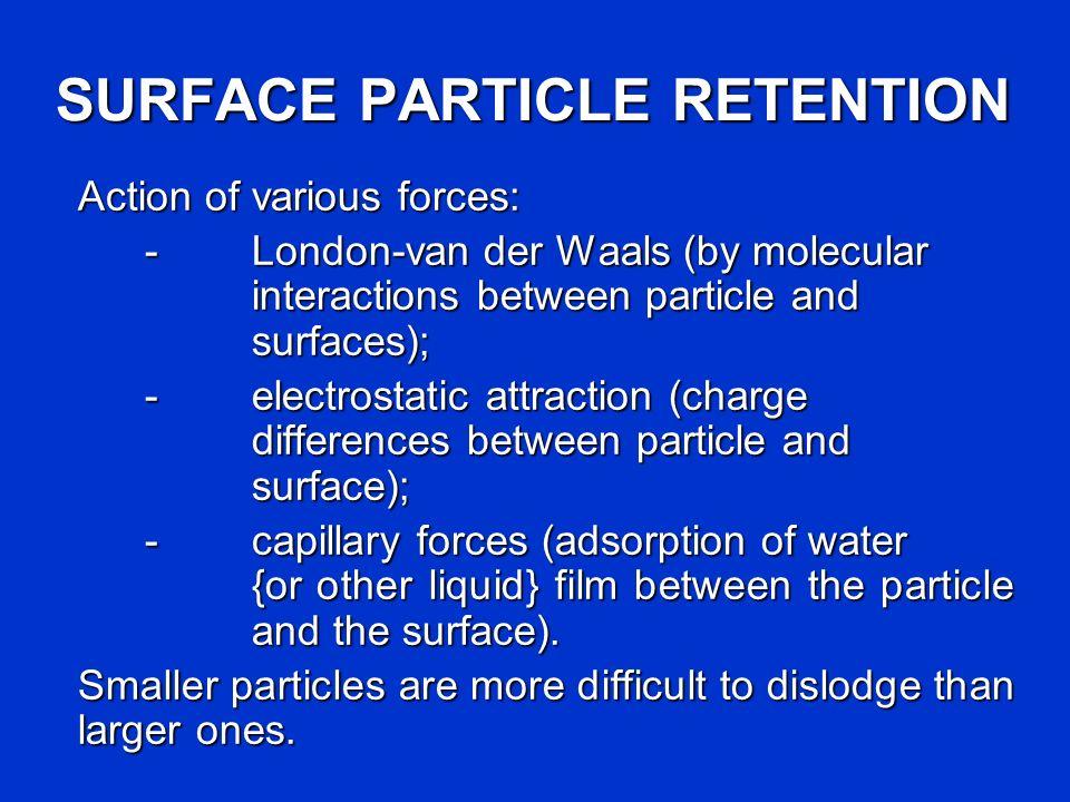 SURFACE PARTICLE RETENTION