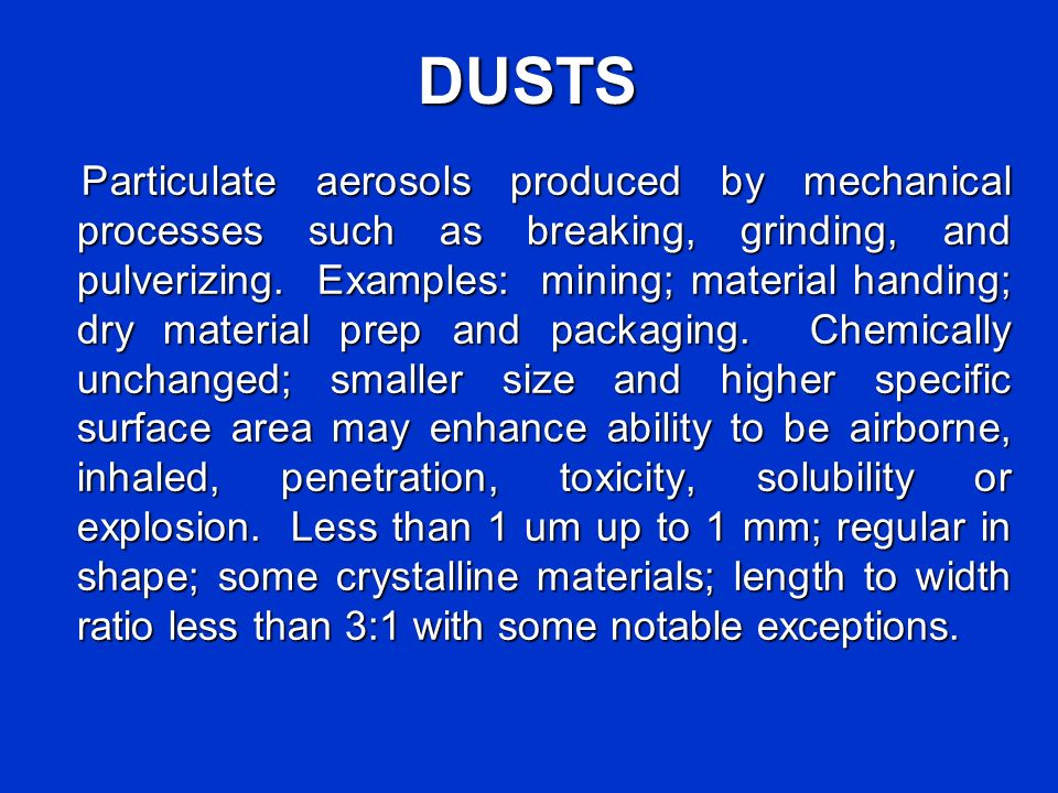DUSTS