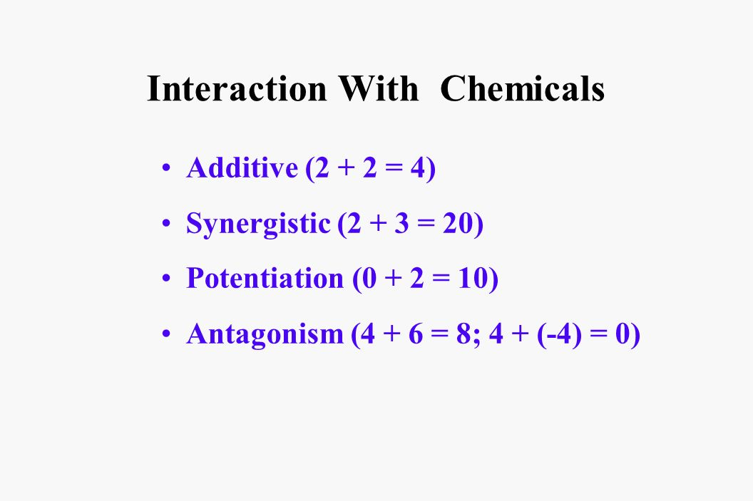Interaction With Chemicals