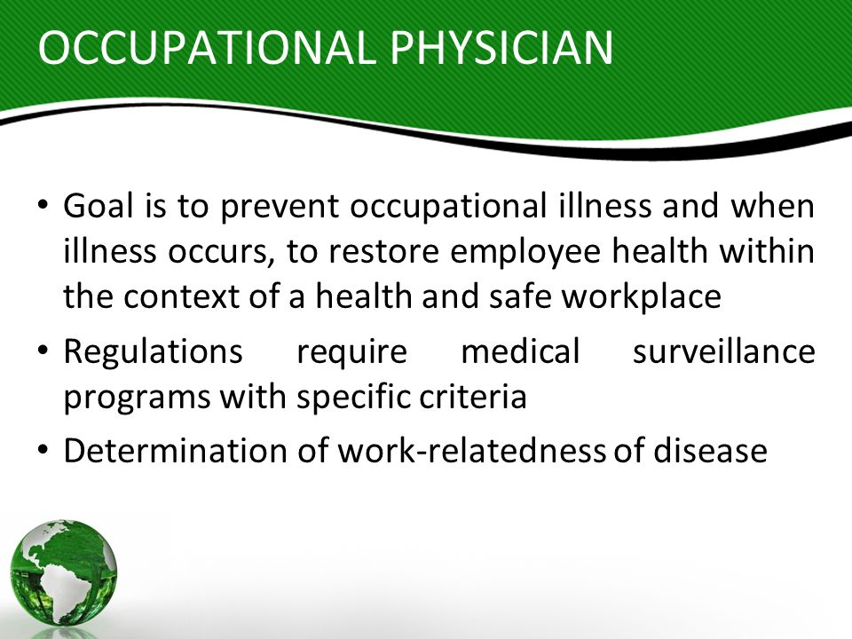 OCCUPATIONAL PHYSICIAN