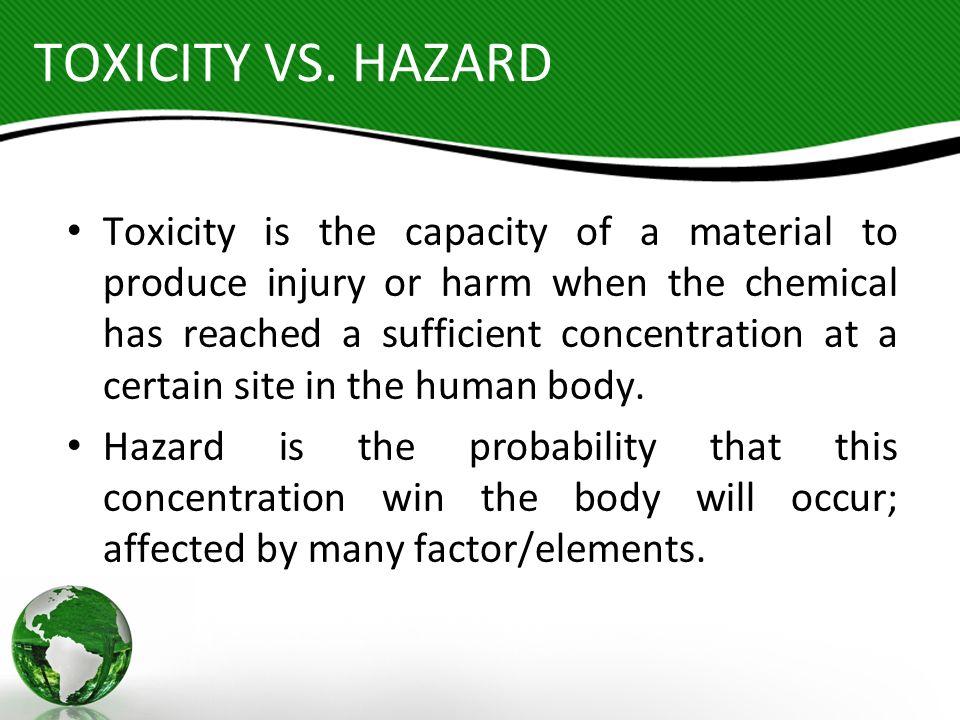 TOXICITY VS. HAZARD