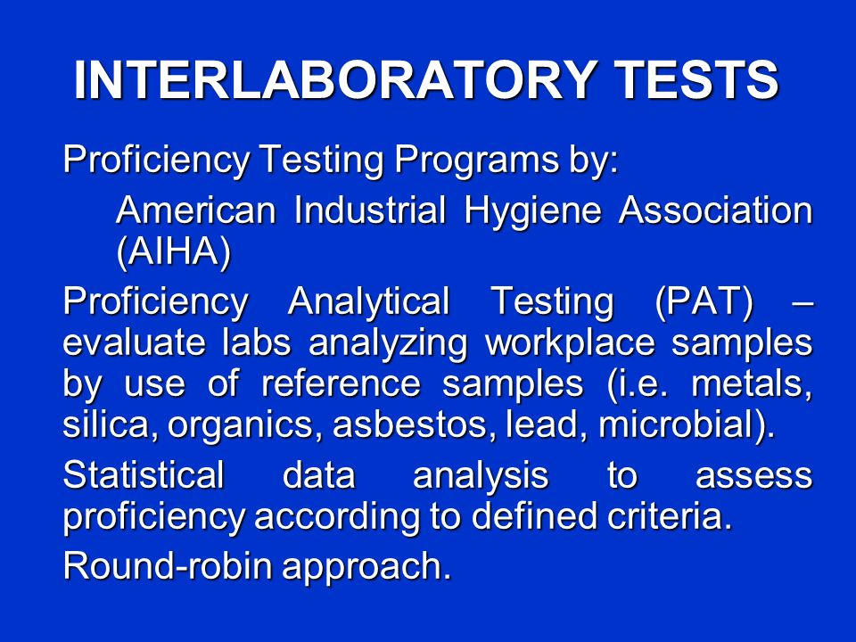 EVALUATE LAB METHODS