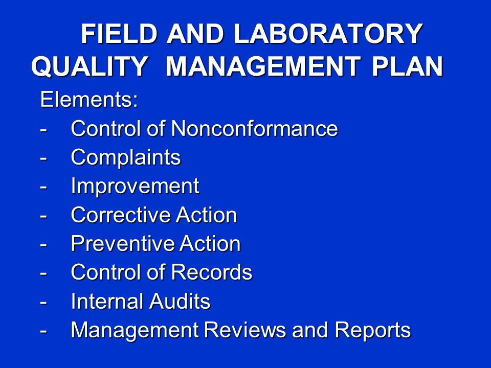 INDUSTRIAL HYGIENE QUALITY CONTROL FOR SAMPLING AND LAB ANALYSIS