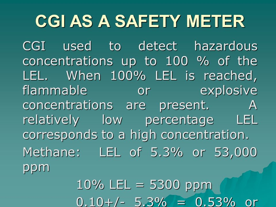 CGI AS A SAFETY METER