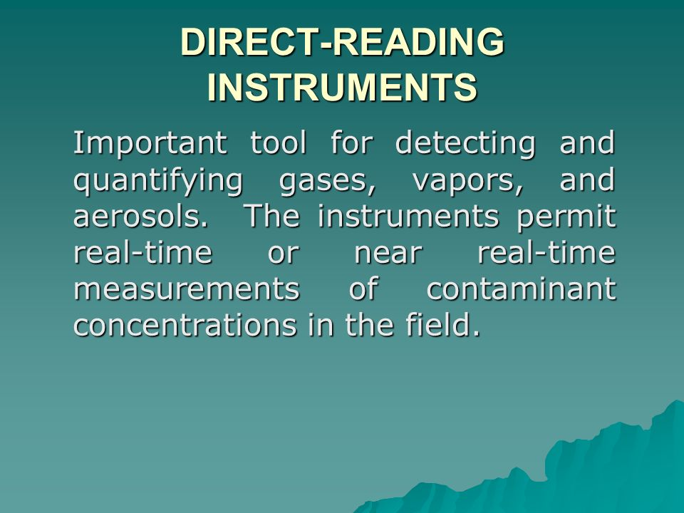 DIRECT-READING INSTRUMENTS