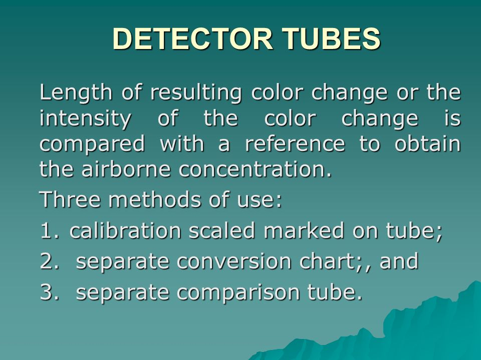 DETECTOR TUBES