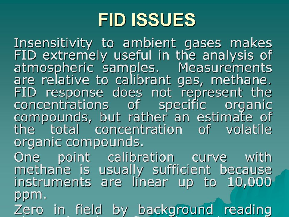 FID ISSUES
