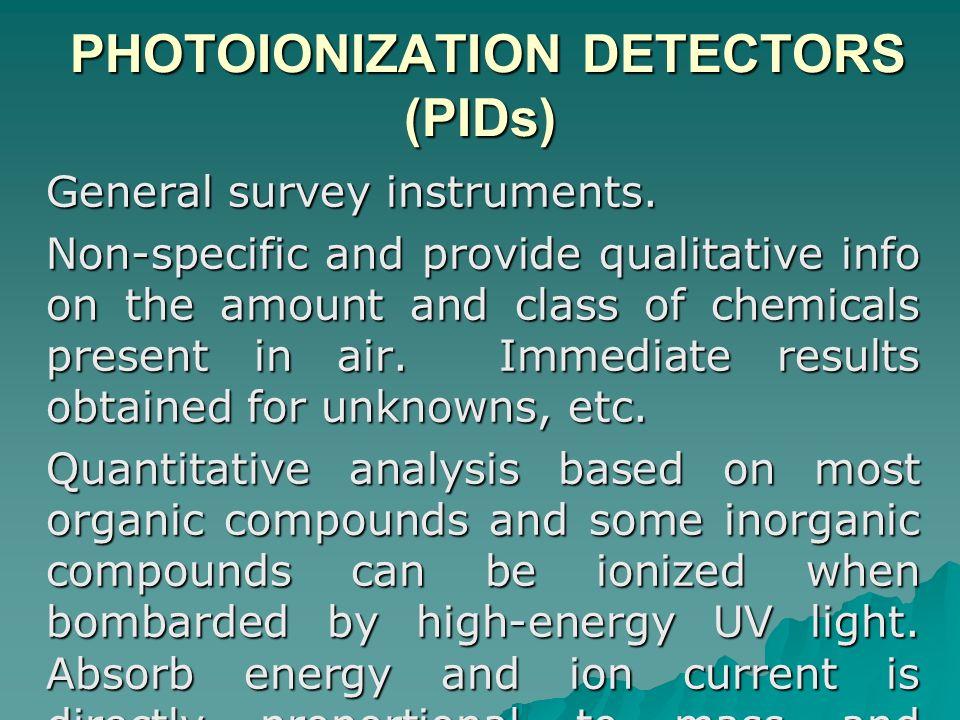 PHOTOIONIZATION DETECTORS (PIDs)