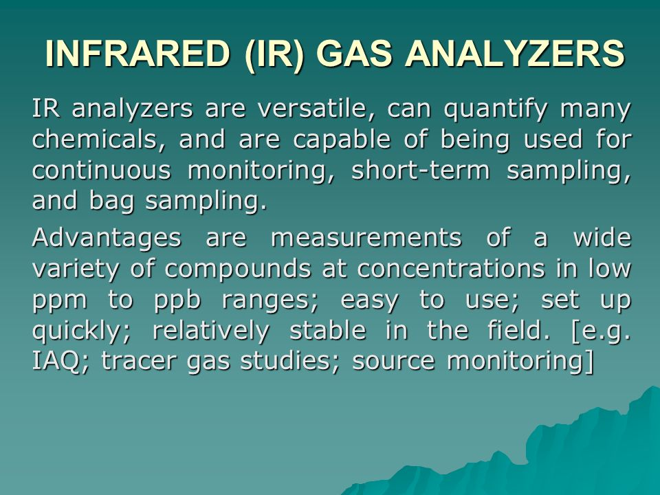INFRARED (IR) GAS ANALYZERS