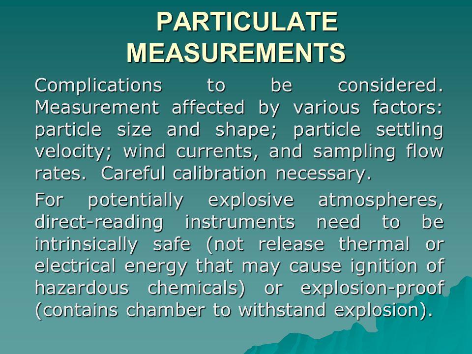 PARTICULATE MEASUREMENTS