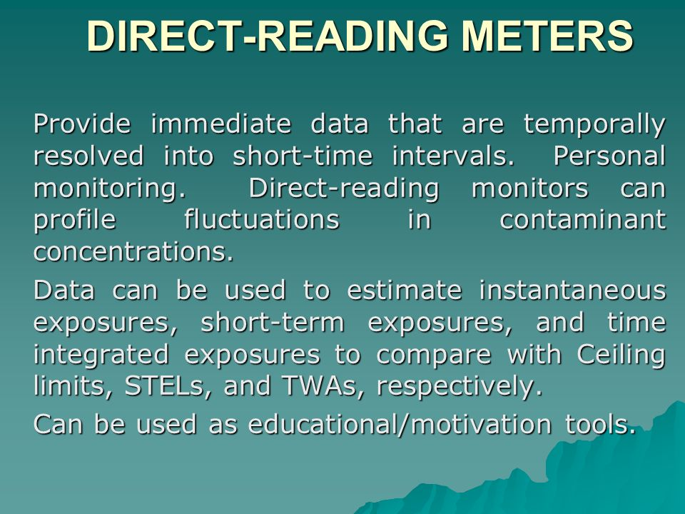 DIRECT-READING METERS