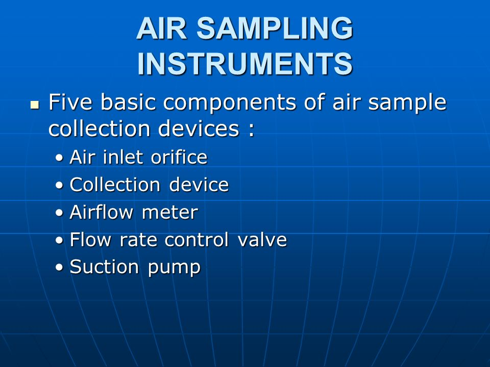 AIR SAMPLING INSTRUMENTS