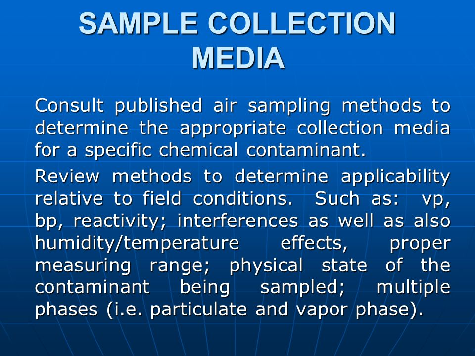 SAMPLE COLLECTION MEDIA
