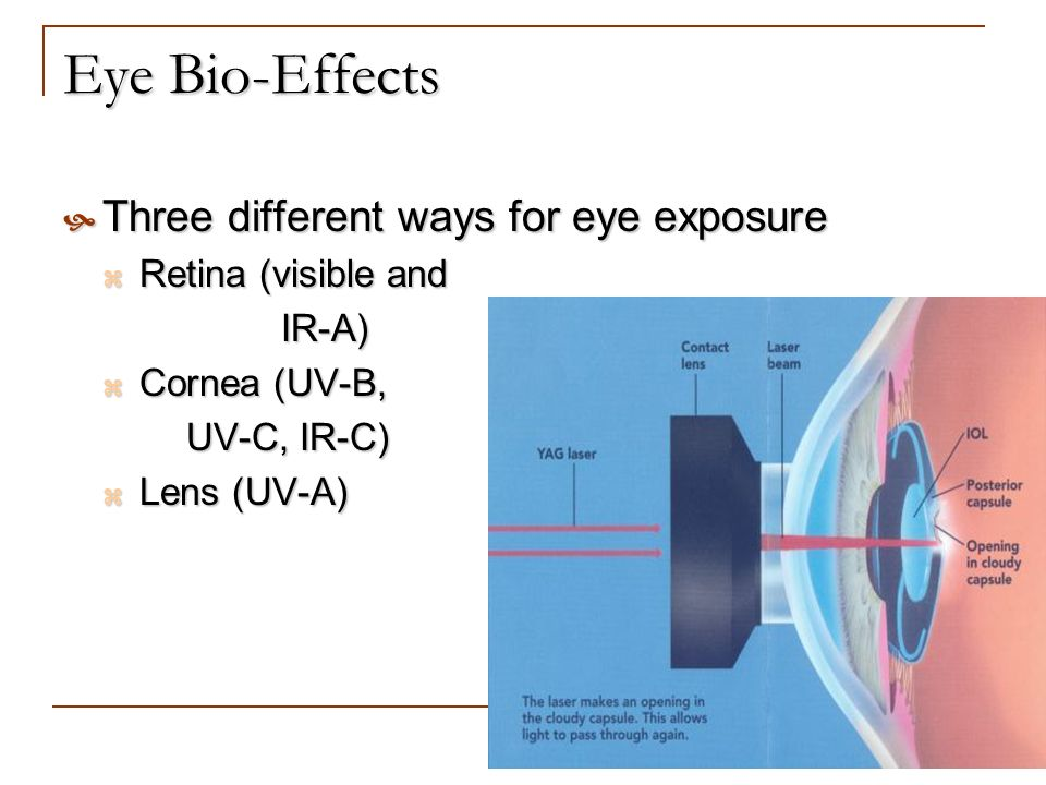 Eye Bio-Effects Three different ways for eye exposure