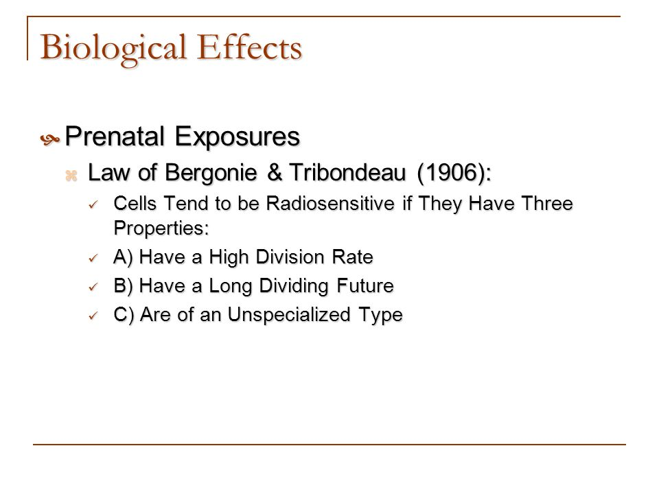 Biological Effects Prenatal Exposures