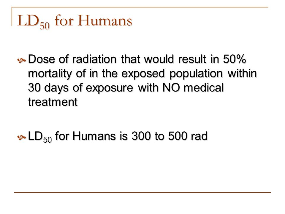 LD50 for Humans
