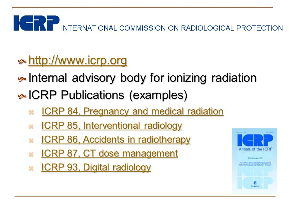 Internal advisory body for ionizing radiation