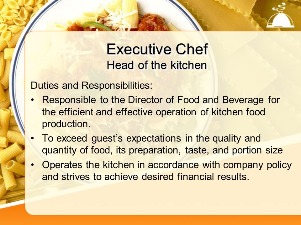 Personality Traits of the Most Successful Executive Chefs