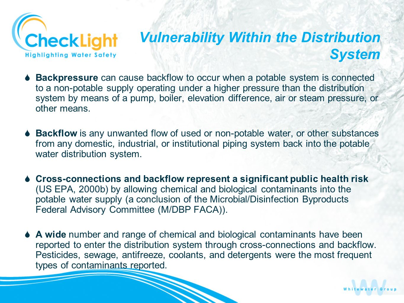 Vulnerability Within the Distribution System