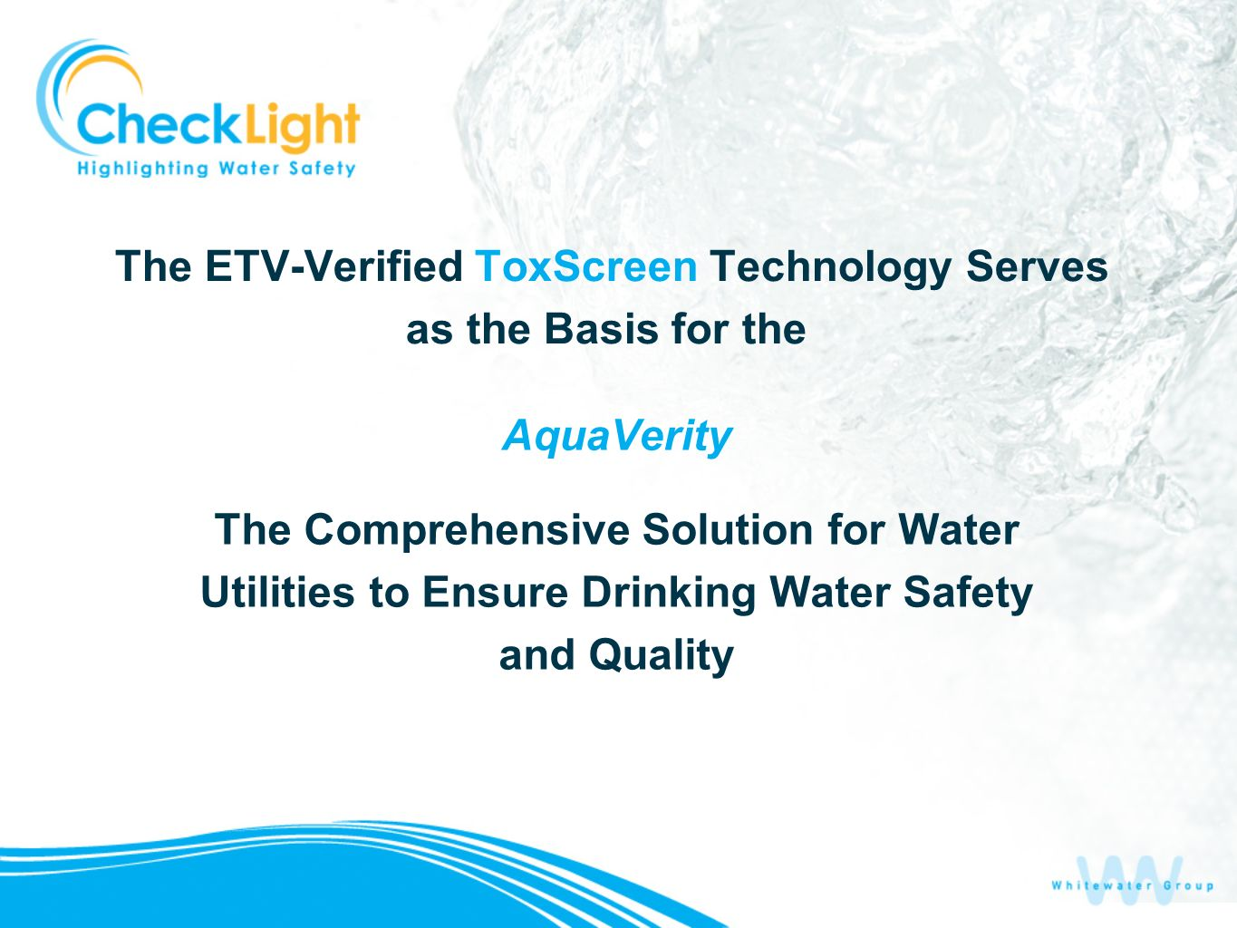 The ETV-Verified ToxScreen Technology Serves as the Basis for the
