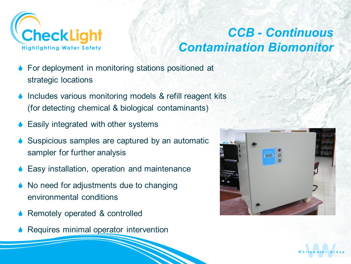 CCB - Continuous Contamination Biomonitor