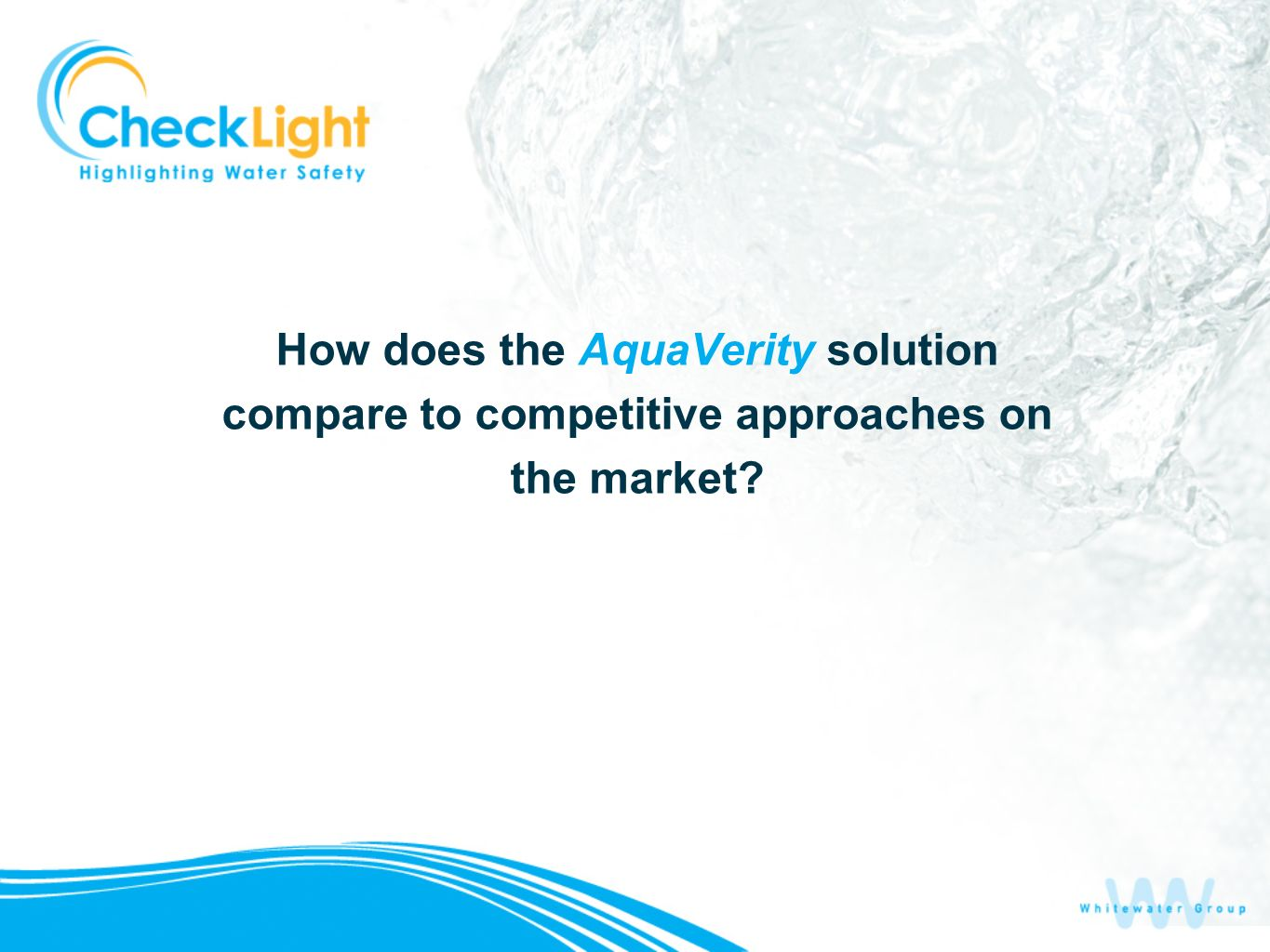 How does the AquaVerity solution compare to competitive approaches on the market