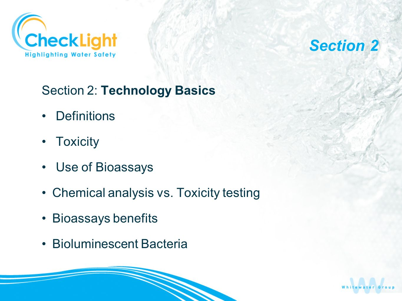 Section 2 Section 2: Technology Basics Definitions Toxicity