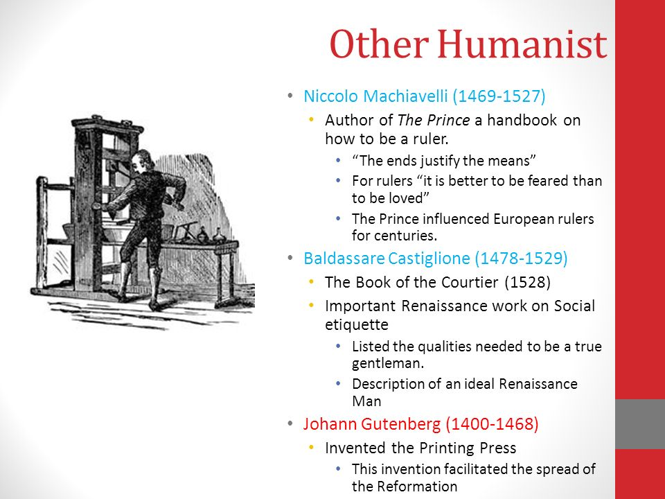 machiavelli as a humanist Although it does not really say why my history book does have niccolo machiavelli labeled as a humanist.