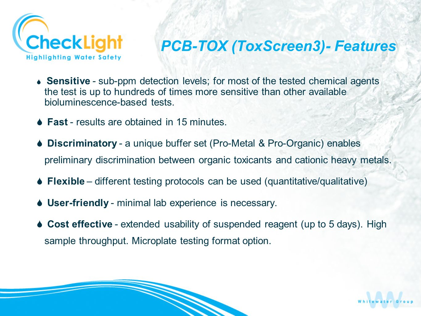 PCB-TOX (ToxScreen3)- Features