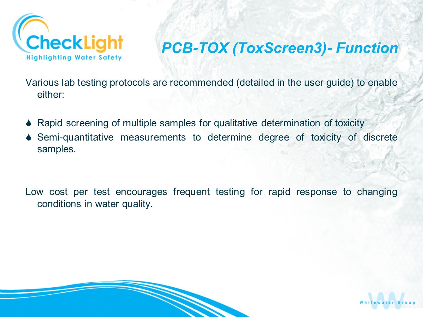 PCB-TOX (ToxScreen3)- Function