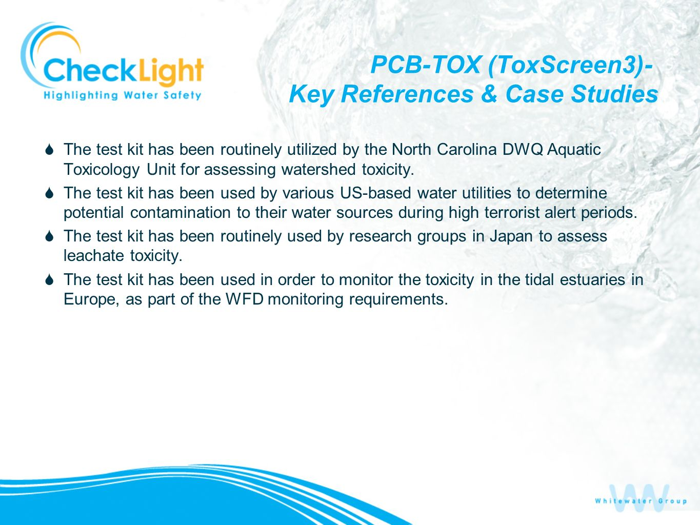 PCB-TOX (ToxScreen3)- Key References & Case Studies