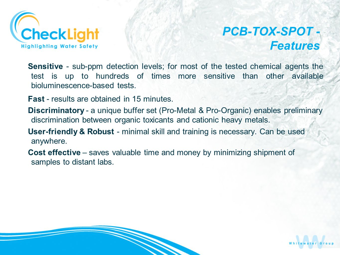 PCB-TOX-SPOT - Features