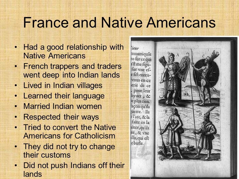 native american french relationship culture