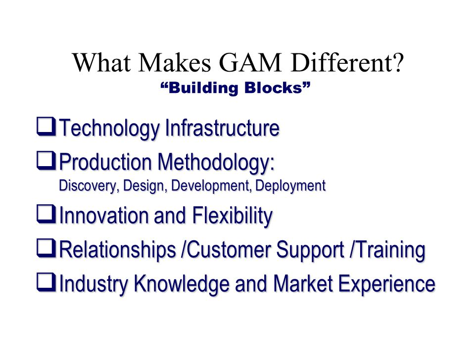 What Makes GAM Different