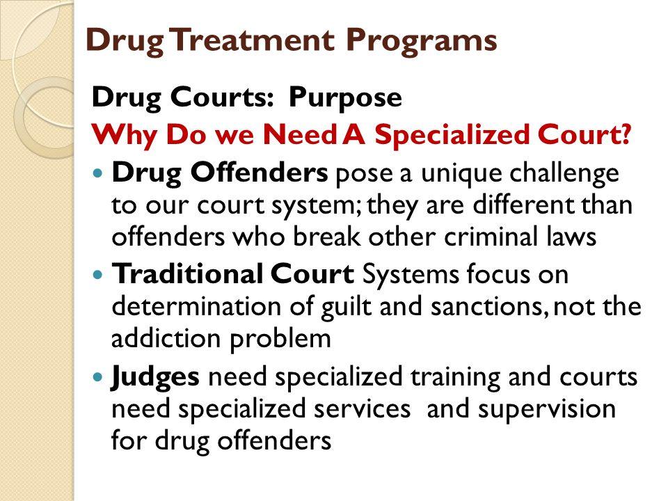 Disadvantage drug court