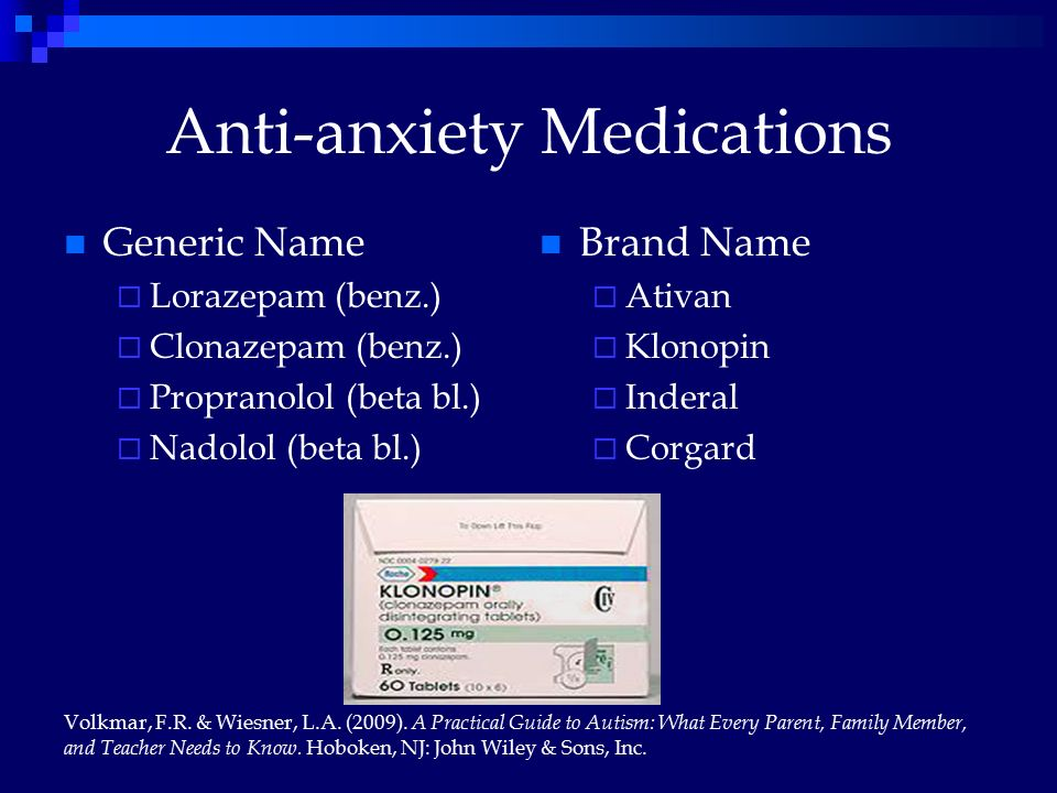 Generic Medication For Anxiety