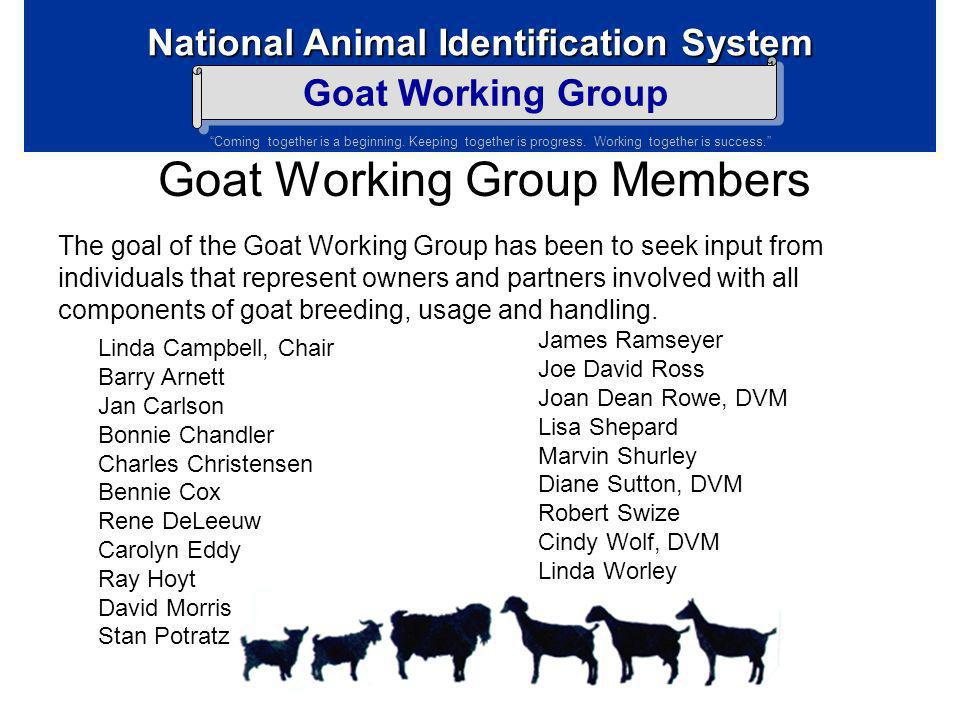 Goat Working Group Members