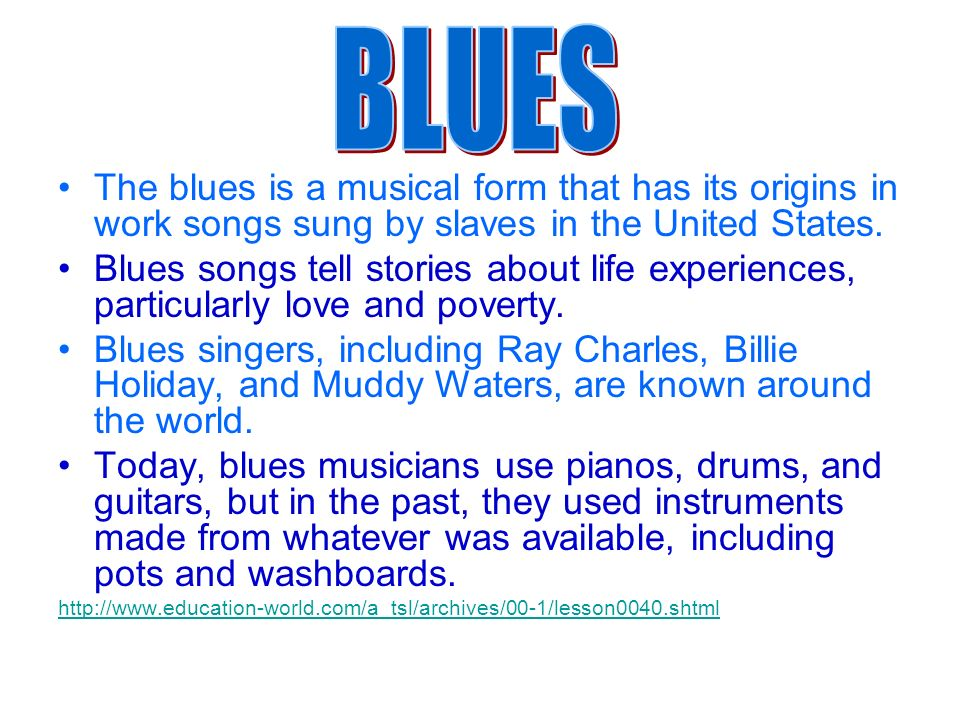 the origin and history of the blues music in the united states In a seven-part series, guardian and observer critics chart the history of modern music, tackling a different genre each day and picking 50 key moments.