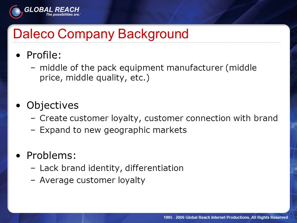 Daleco Company Background