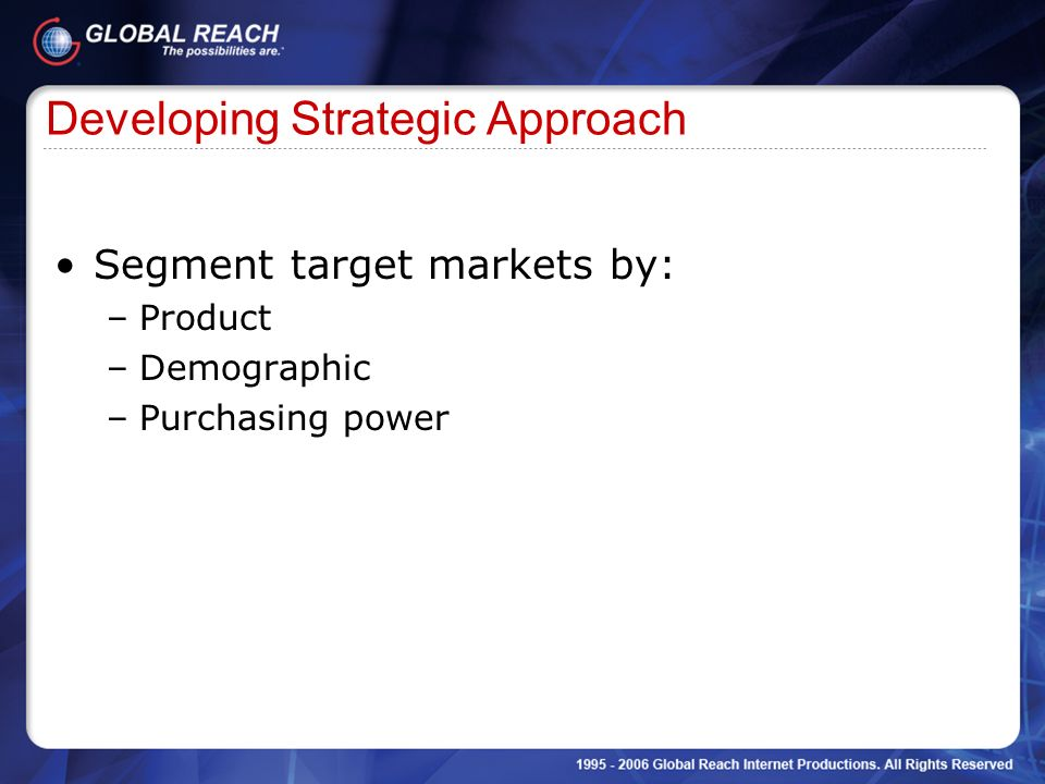 Developing Strategic Approach