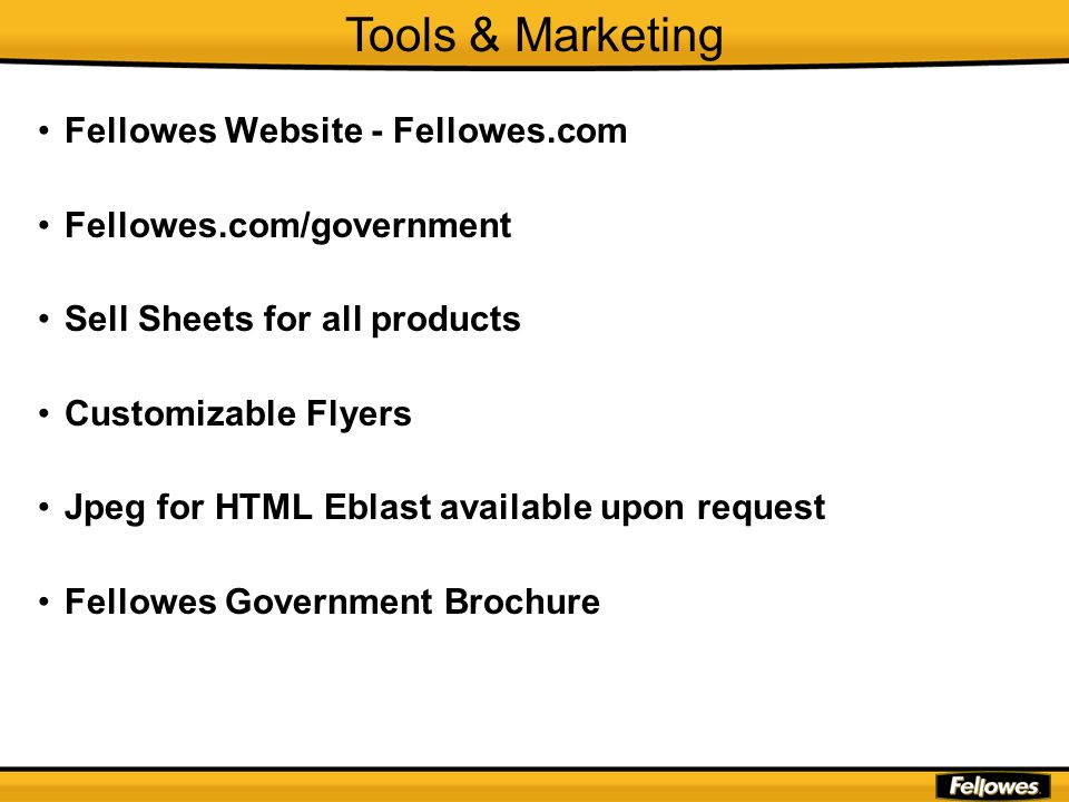 Tools & Marketing Fellowes Website - Fellowes.com