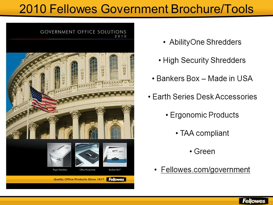 2010 Fellowes Government Brochure/Tools