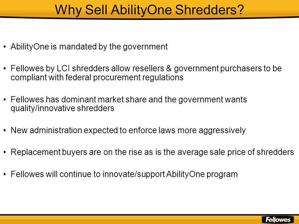 Why Sell AbilityOne Shredders