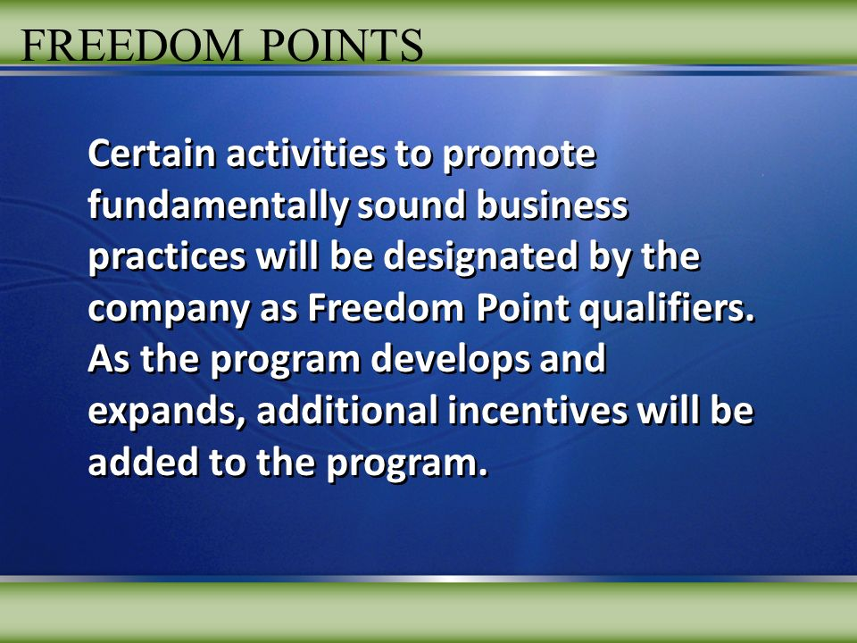 FREEDOM POINTS