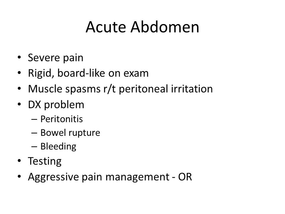 assessment of patient with acute abdomen Patients attending the mora hospital with acute abdominal pain from  of  emergency abdominal pain still relies on careful clinical assessment.