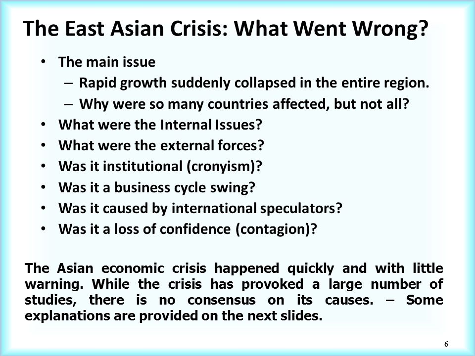 the east asia crisis essay Essay on middle east: free examples of essays, research and term papers examples of middle east essay topics, questions and thesis satatements.
