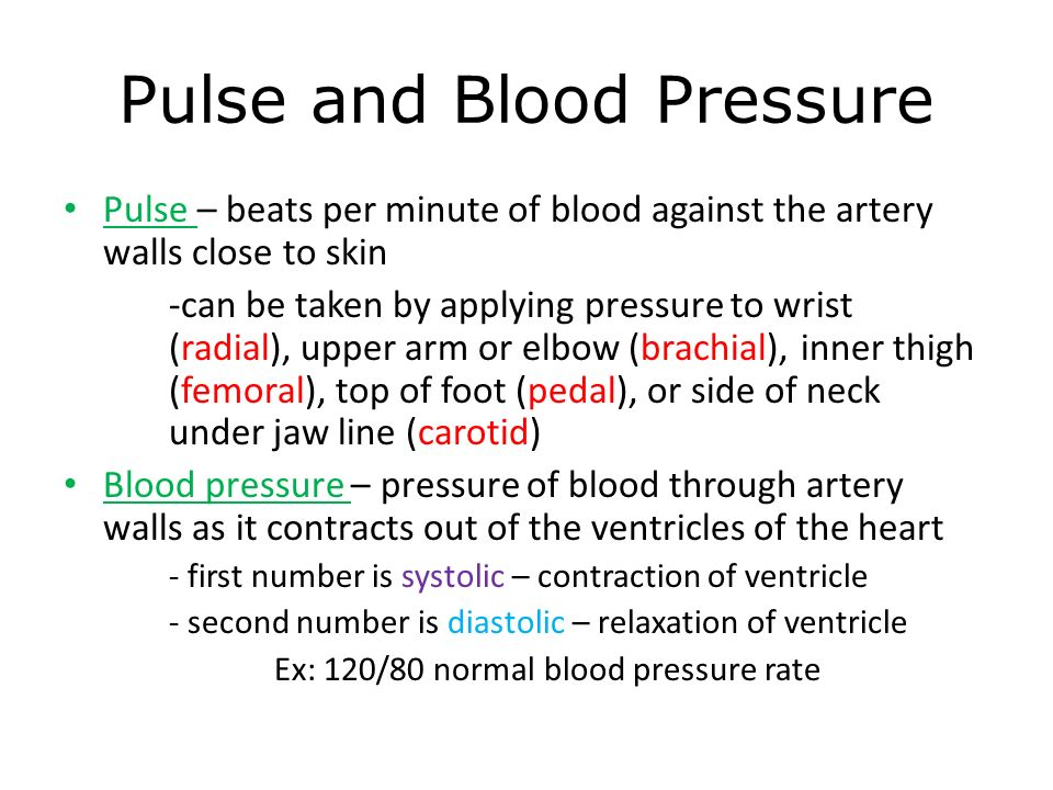 how to find pulse rate from blood pressure