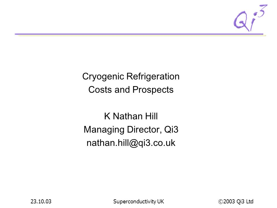 Cryogenic Refrigeration